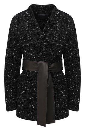 Женское шерстяное пальто LORENA ANTONIAZZI черного цвета, арт. A2010CP030/3300   Фото 1