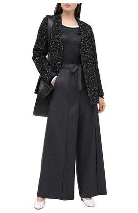 Женское шерстяное пальто LORENA ANTONIAZZI черного цвета, арт. A2010CP030/3300   Фото 2
