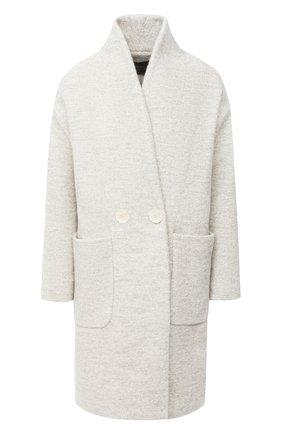 Женское шерстяное пальто LORENA ANTONIAZZI серого цвета, арт. A2010CP042/3300   Фото 1