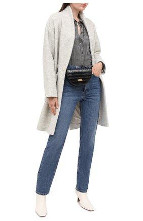 Женское шерстяное пальто LORENA ANTONIAZZI серого цвета, арт. A2010CP042/3300   Фото 2