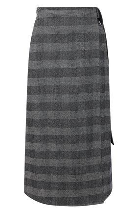 Женская шерстяная юбка LORENA ANTONIAZZI серого цвета, арт. A2029G0017/3272   Фото 1