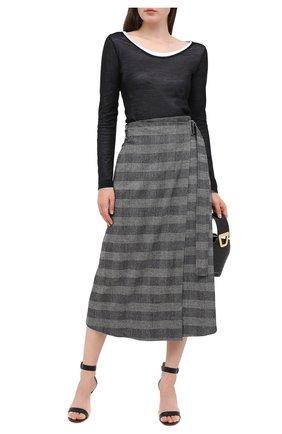 Женская шерстяная юбка LORENA ANTONIAZZI серого цвета, арт. A2029G0017/3272   Фото 2