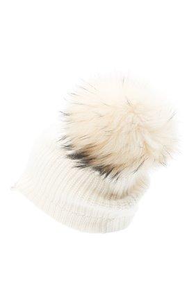 Женский кашемировая шапка WILLIAM SHARP белого цвета, арт. A119-2/PALE RAC00N NATURAL | Фото 2