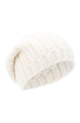 Женский кашемировая шапка WILLIAM SHARP белого цвета, арт. A76-PL-19 | Фото 1