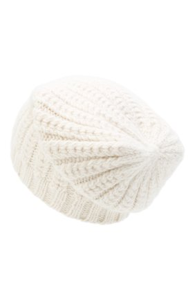 Женский кашемировая шапка WILLIAM SHARP белого цвета, арт. A76-PL-19 | Фото 2