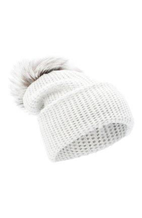 Женский кашемировая шапка WILLIAM SHARP светло-серого цвета, арт. A91-2/PEARL F0X NATURAL | Фото 1