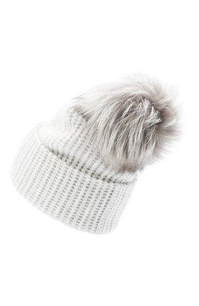 Женский кашемировая шапка WILLIAM SHARP светло-серого цвета, арт. A91-2/PEARL F0X NATURAL | Фото 2