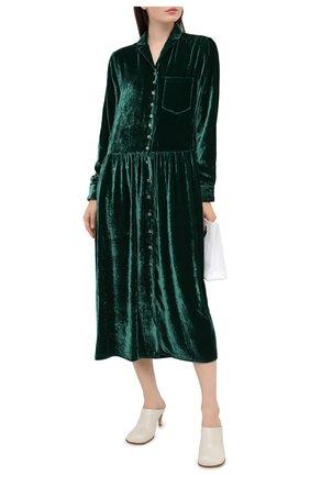 Женское платье из вискозы и шелка MM6 зеленого цвета, арт. S52CT0554/S53086 | Фото 2