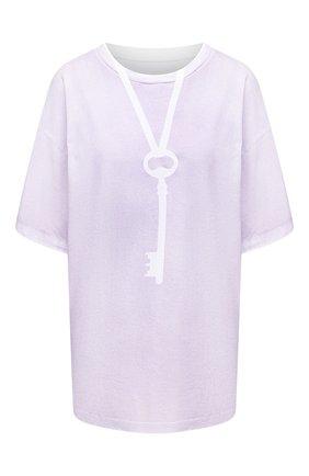 Женская хлопковая футболка MM6 сиреневого цвета, арт. S52GC0167/S23588 | Фото 1