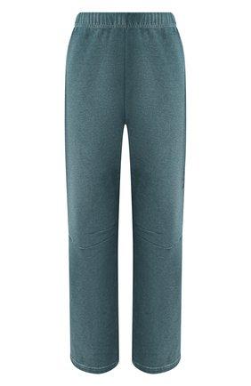 Женские хлопковые брюки MM6 зеленого цвета, арт. S52KA0263/S25337 | Фото 1