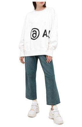Женские хлопковые брюки MM6 зеленого цвета, арт. S52KA0263/S25337 | Фото 2