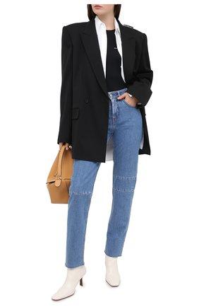 Женские джинсы MM6 синего цвета, арт. S52LA0132/S30460   Фото 2