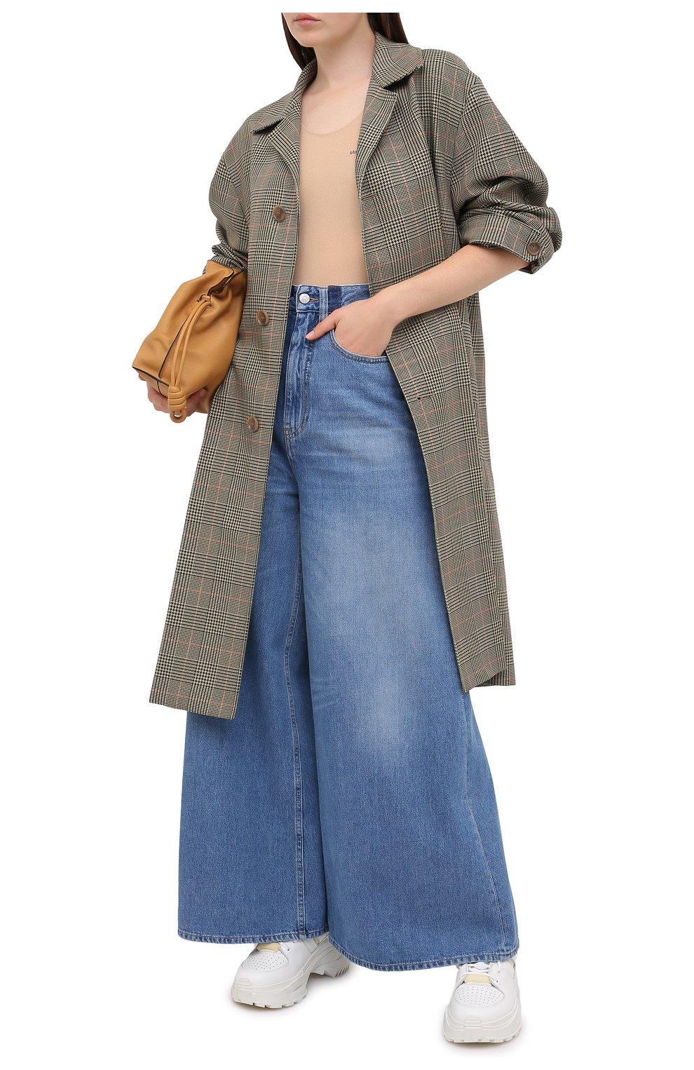 Женские джинсы MM6 синего цвета, арт. S52LA0141/S30460 | Фото 2