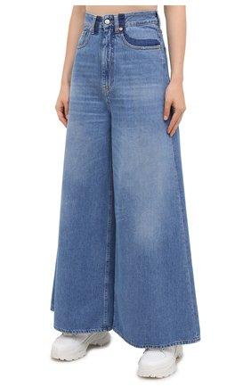 Женские джинсы MM6 синего цвета, арт. S52LA0141/S30460 | Фото 3