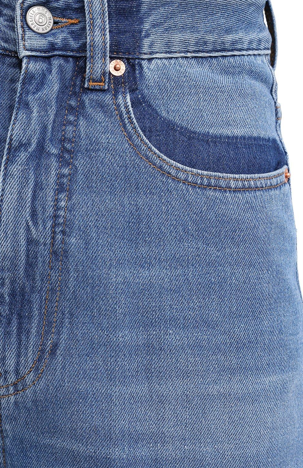Женские джинсы MM6 синего цвета, арт. S52LA0141/S30460 | Фото 5