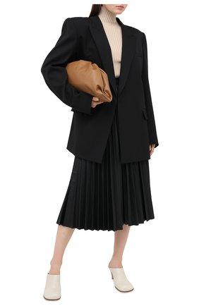 Женская юбка MM6 черного цвета, арт. S52MA0095/S53057   Фото 2