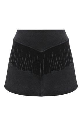 Женская шерстяная юбка MM6 черного цвета, арт. S52MA0103/S52207 | Фото 1