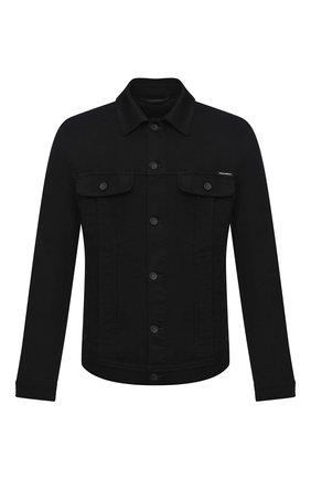 Мужская джинсовая куртка DOLCE & GABBANA черного цвета, арт. G9JC2D/G8CN9 | Фото 1