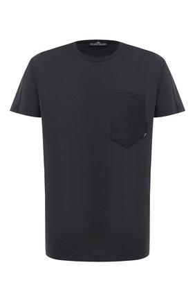 Мужская хлопковая футболка STONE ISLAND SHADOW PROJECT черного цвета, арт. 731920110 | Фото 1