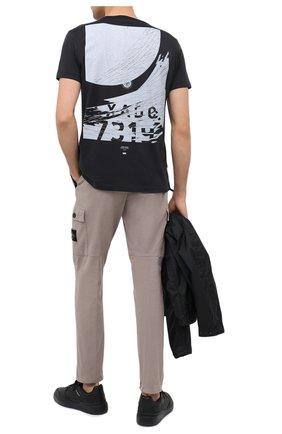 Мужская хлопковая футболка STONE ISLAND SHADOW PROJECT черного цвета, арт. 731920110 | Фото 2