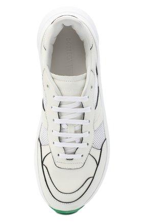 Мужские комбинированные кроссовки BOTTEGA VENETA белого цвета, арт. 565646/VJE21   Фото 5 (Материал внутренний: Натуральная кожа; Подошва: Массивная)
