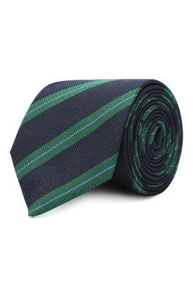 Детский шелковый галстук DAL LAGO синего цвета, арт. N300/7744/III | Фото 1