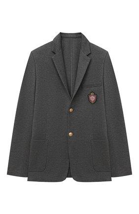 Детский пиджак DAL LAGO серого цвета, арт. N035/8111/7-12 | Фото 1