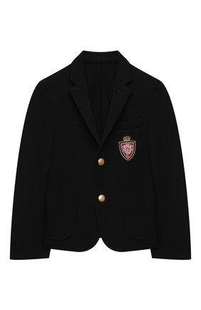 Детский пиджак DAL LAGO черного цвета, арт. N035/8111/4-6 | Фото 1