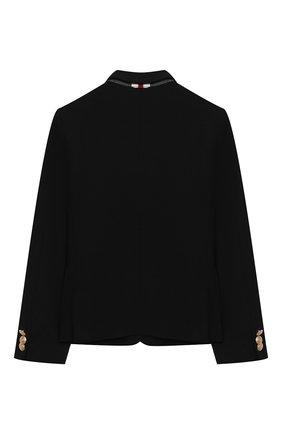 Детский пиджак DAL LAGO черного цвета, арт. N035/8111/4-6 | Фото 2