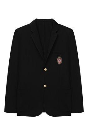 Детский пиджак DAL LAGO черного цвета, арт. N035M/8111/17/L-18/XL | Фото 1