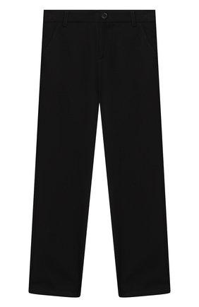 Детские брюки ALETTA черного цвета, арт. AM000594N/9A-16A | Фото 1