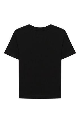 Детская хлопковая футболка BURBERRY черного цвета, арт. 8028809 | Фото 2