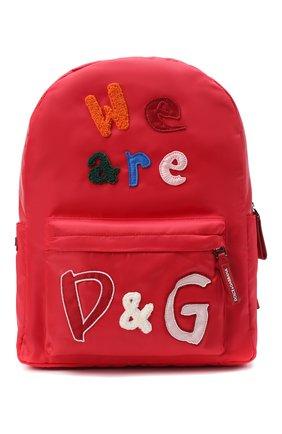 Детская рюкзак DOLCE & GABBANA красного цвета, арт. EB0224/AE172 | Фото 1