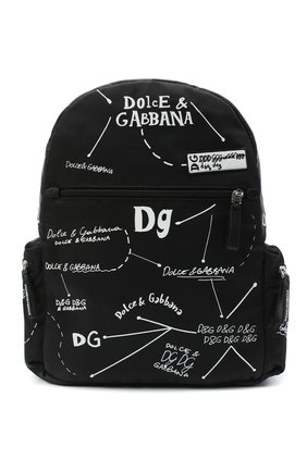 Детская рюкзак DOLCE & GABBANA черно-белого цвета, арт. EM0084/AS772 | Фото 1