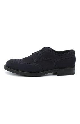 Мужские замшевые дерби W.GIBBS синего цвета, арт. 3169007/2301 | Фото 3 (Мужское Кросс-КТ: Броги-обувь; Стили: Классический; Материал внутренний: Текстиль; Материал внешний: Замша)
