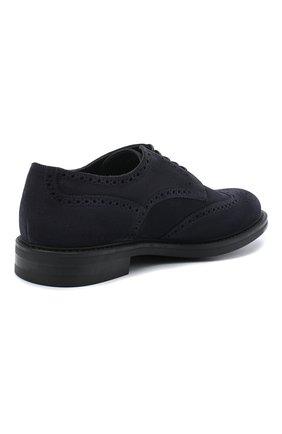 Мужские замшевые дерби W.GIBBS синего цвета, арт. 3169007/2301 | Фото 4 (Мужское Кросс-КТ: Броги-обувь; Стили: Классический; Материал внутренний: Текстиль; Материал внешний: Замша)