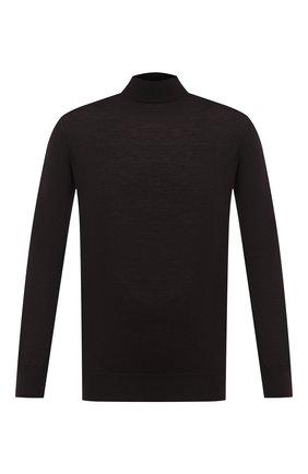 Мужской кашемировая водолазка CRUCIANI темно-коричневого цвета, арт. CU489B.L02 | Фото 1