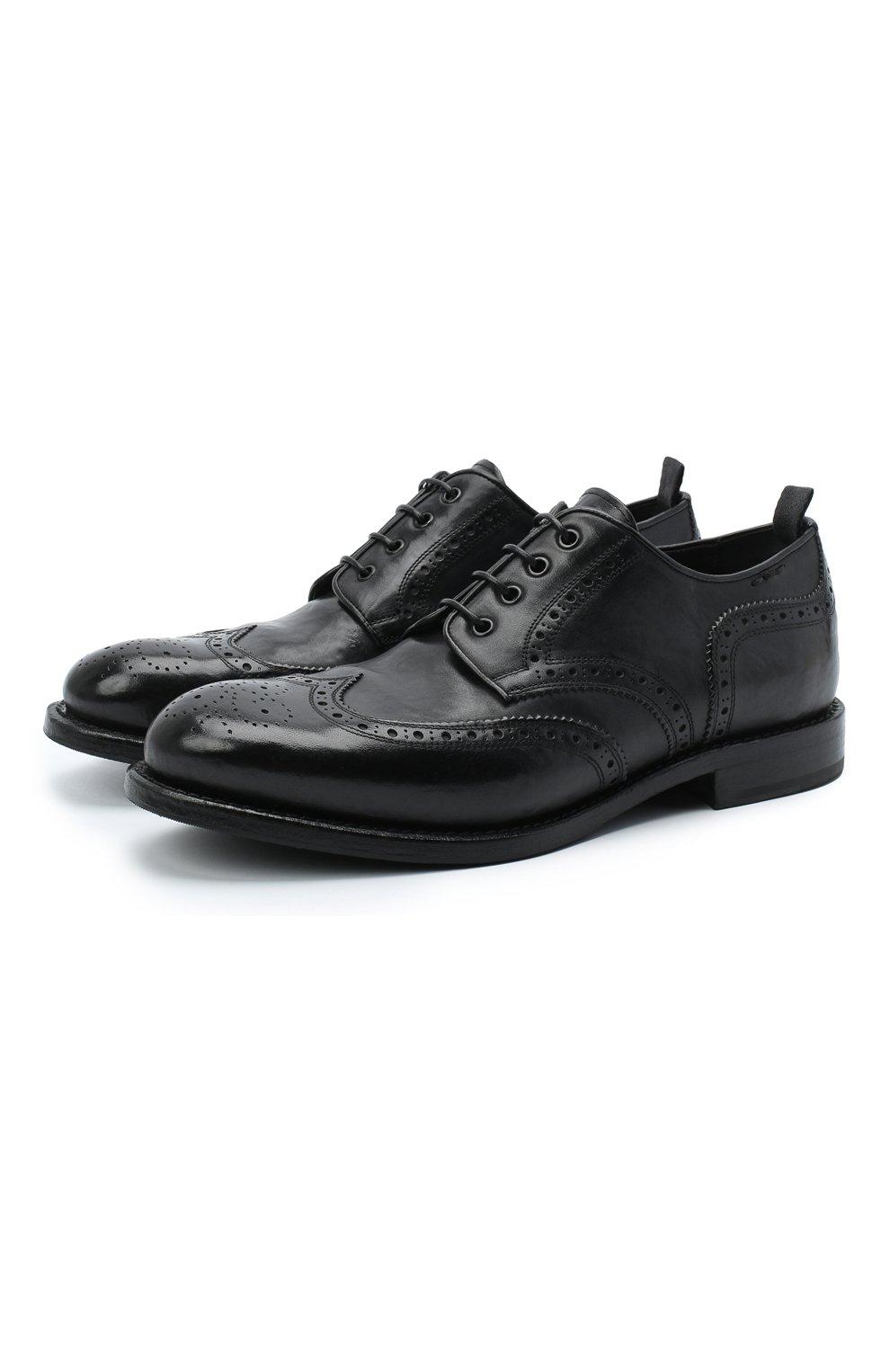 Мужские кожаные дерби ALEXANDER HOTTO черного цвета, арт. 58020/RIDER | Фото 1