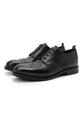 Мужской кожаные дерби ALEXANDER HOTTO черного цвета, арт. 58020/RIDER | Фото 1