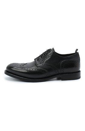 Мужские кожаные дерби ALEXANDER HOTTO черного цвета, арт. 58020/RIDER | Фото 3