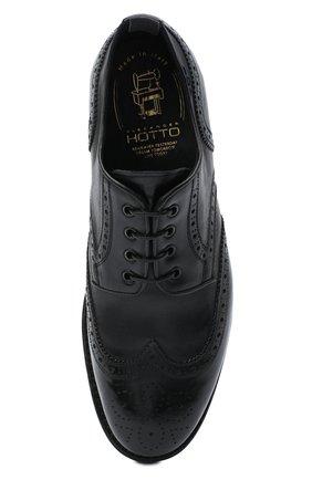 Мужские кожаные дерби ALEXANDER HOTTO черного цвета, арт. 58020/RIDER | Фото 5