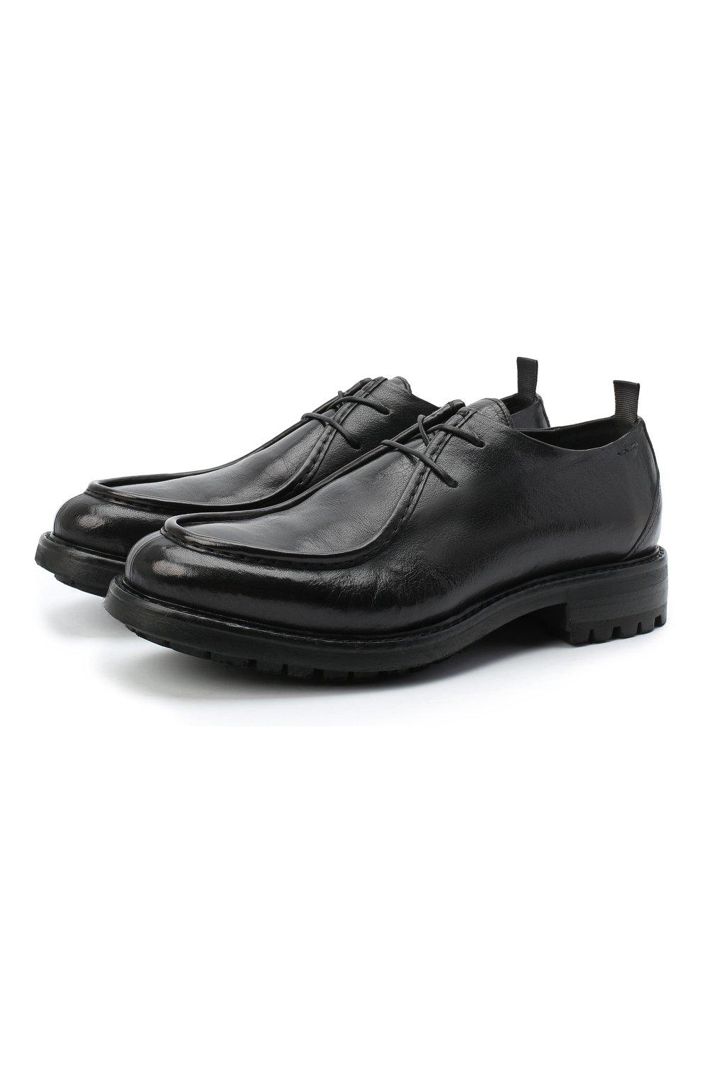 Мужские кожаные дерби ALEXANDER HOTTO черного цвета, арт. 58033/CANDY | Фото 1