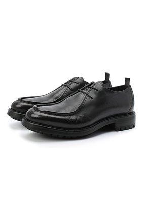 Мужской кожаные дерби ALEXANDER HOTTO черного цвета, арт. 58033/CANDY | Фото 1