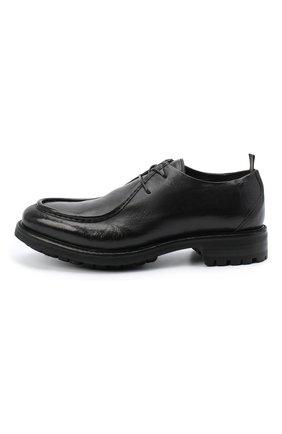 Мужские кожаные дерби ALEXANDER HOTTO черного цвета, арт. 58033/CANDY | Фото 3