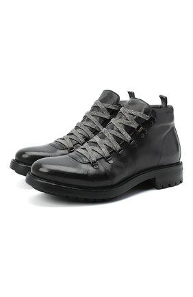 Мужские кожаные ботинки ALEXANDER HOTTO черного цвета, арт. 58035/CANDY TE | Фото 1