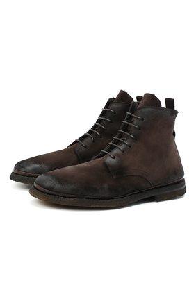 Мужские замшевые ботинки ALEXANDER HOTTO темно-коричневого цвета, арт. 58045/T0M/SENS0RY | Фото 1