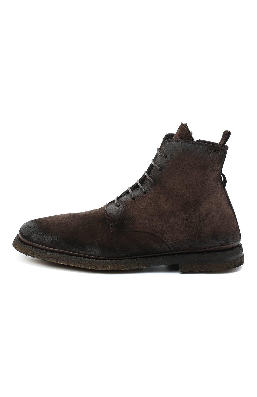 Мужские замшевые ботинки ALEXANDER HOTTO темно-коричневого цвета, арт. 58045/T0M/SENS0RY | Фото 3