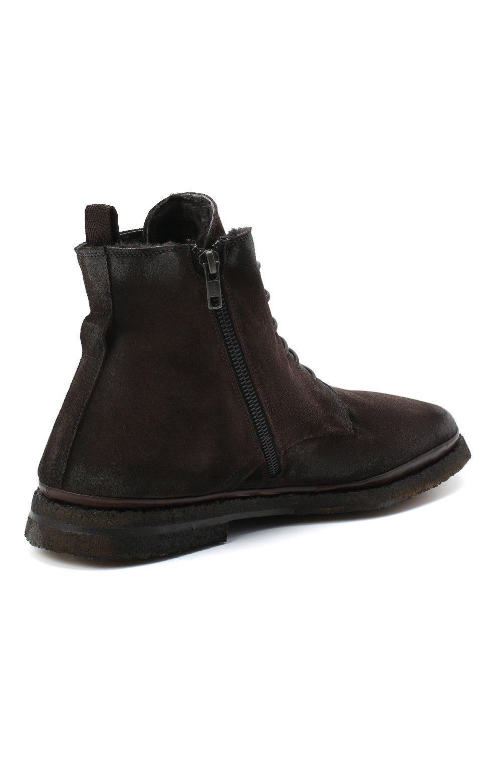 Мужские замшевые ботинки ALEXANDER HOTTO темно-коричневого цвета, арт. 58045/T0M/SENS0RY | Фото 4