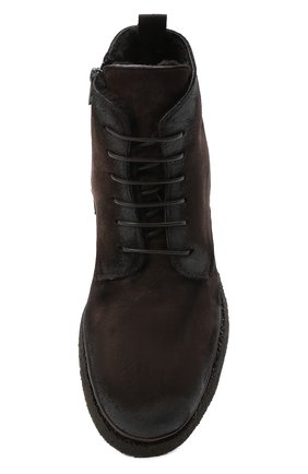 Мужские замшевые ботинки ALEXANDER HOTTO темно-коричневого цвета, арт. 58045/T0M/SENS0RY | Фото 5