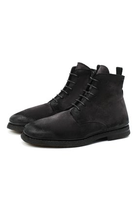 Мужские замшевые ботинки ALEXANDER HOTTO темно-серого цвета, арт. 58045/T0M/SENS0RY | Фото 1